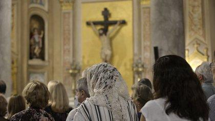 Momento de la celebración de la Santa Misa