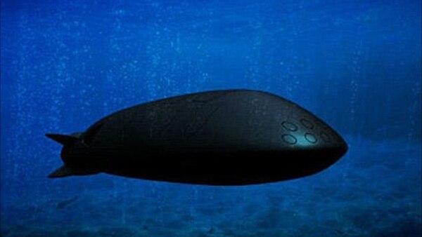 (Ilustración del drone subacuático bajo la impresión de un artista)