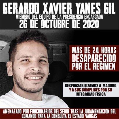 Gerardo Yanes está desaparecido por la dictadura