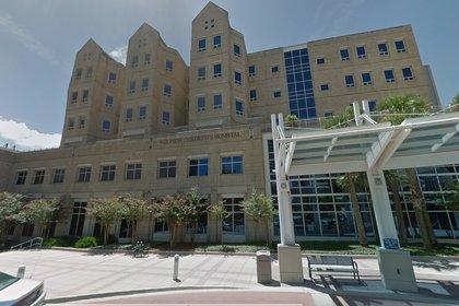 El Hospital Infantil Wolfson, de la ciudad de Jacksonville, donde permanece ingresada Aamira desde el domingo