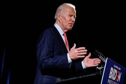 Joe Biden adelantó que su compañera de fórmula será una mujer (REUTERS/Carlos Barria)