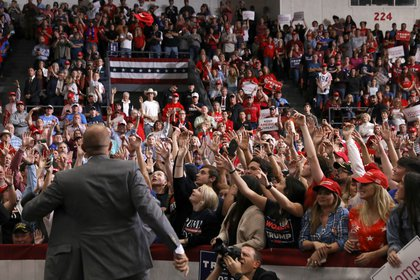 Parscale had a high profile in the president's campaign events (Reuters)