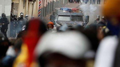 Los manifestantes denunciaron represión de las fuerzas de seguridad durante las protestas (REUTERS/Carlos Garcia Rawlins)