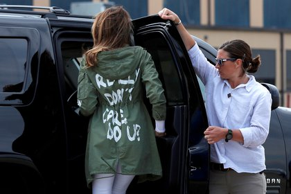 """Melania and her controversial pronda: """"I don't really care, do you?"""" (Reuters)"""