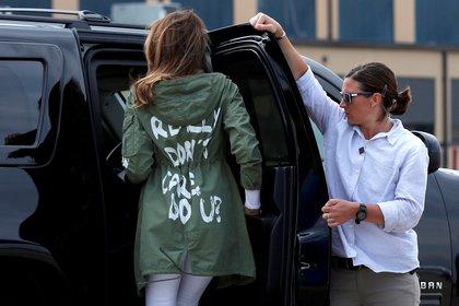 """Melania y su polémica pronda: """"Realmente no me importa, ¿a ti?"""" (Reuters)"""