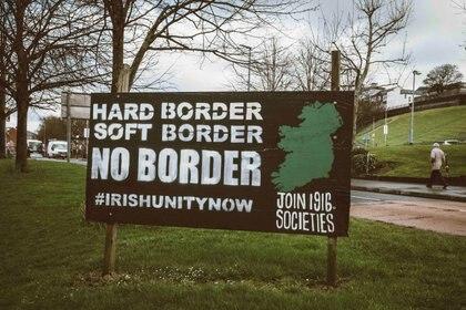Cartel republicano en Irlanda del Norte.