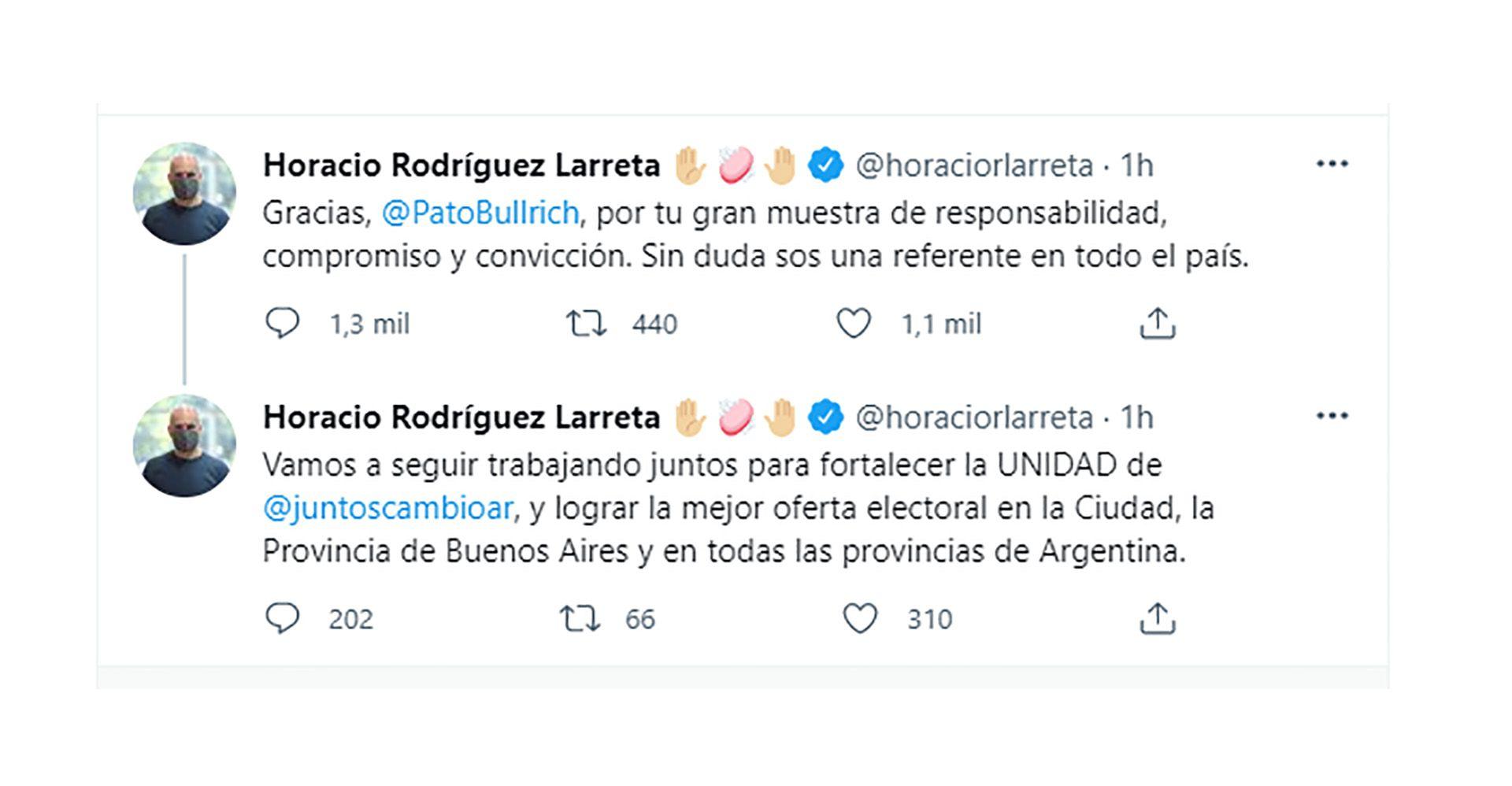 Horacio Rodríguez Larreta Patricia Bullrich