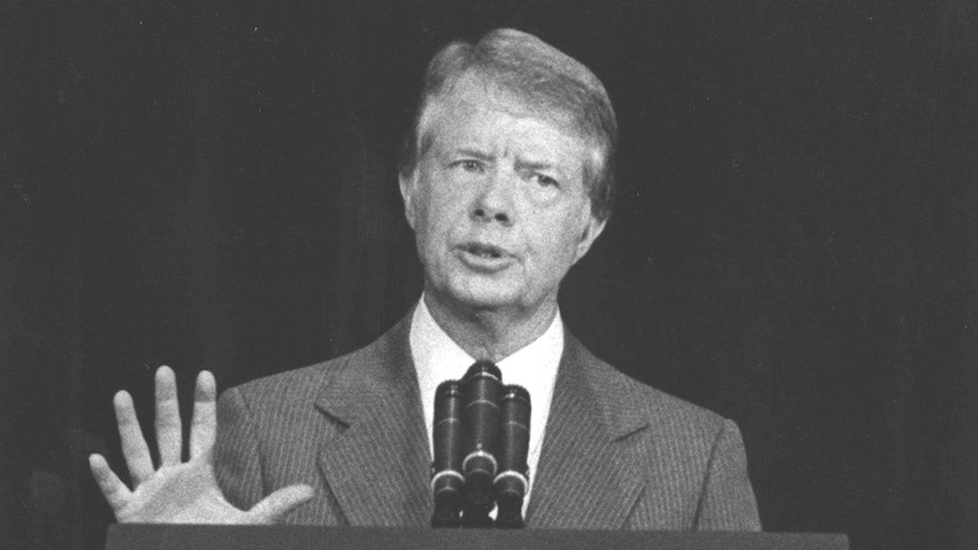 James Carter. El presidente estadounidense presionó a Videla para que aceptase la visita de la CIDH