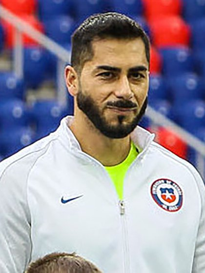 Johnny Herrera, ex arquero de la selección argentina y actual futbolista de la Universidad de Chile