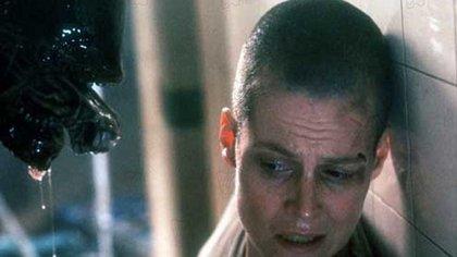 """Sigourney Weaver en la escena más emblemática de """"Alien"""""""