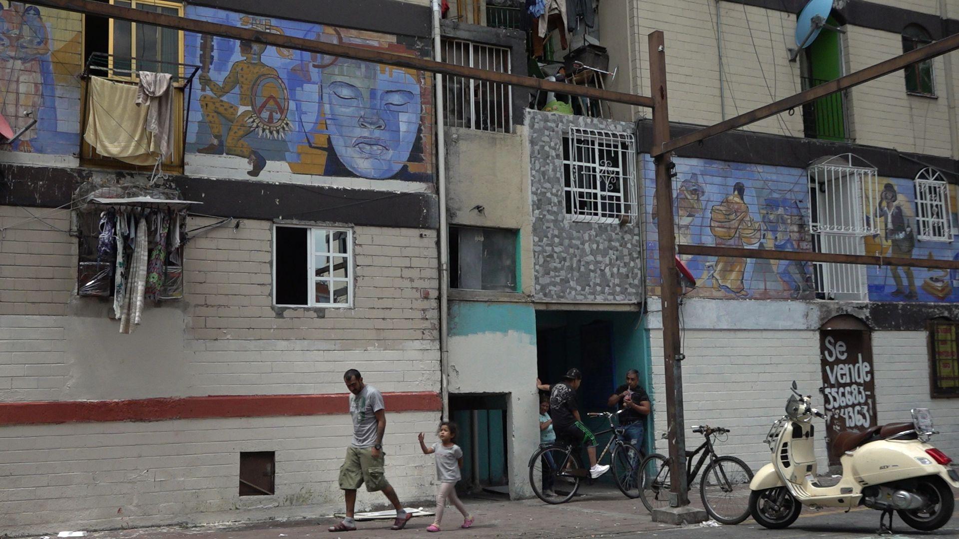 """Unidad habitacional """"Los Palomares"""". (Foto: Juan Vicente Manrique/Infobae)"""