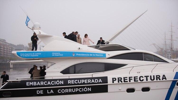 El yate incautado a Ricardo Jaime