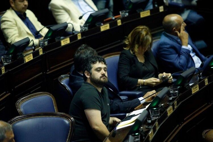 El presidente del bloque de Diputados del Frente de Todos, Facundo Tignanelli