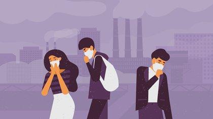 La contaminación del aire se produce por la combinación de la mezcla de partículas sólidas y gases en el aire (Shutterstock)