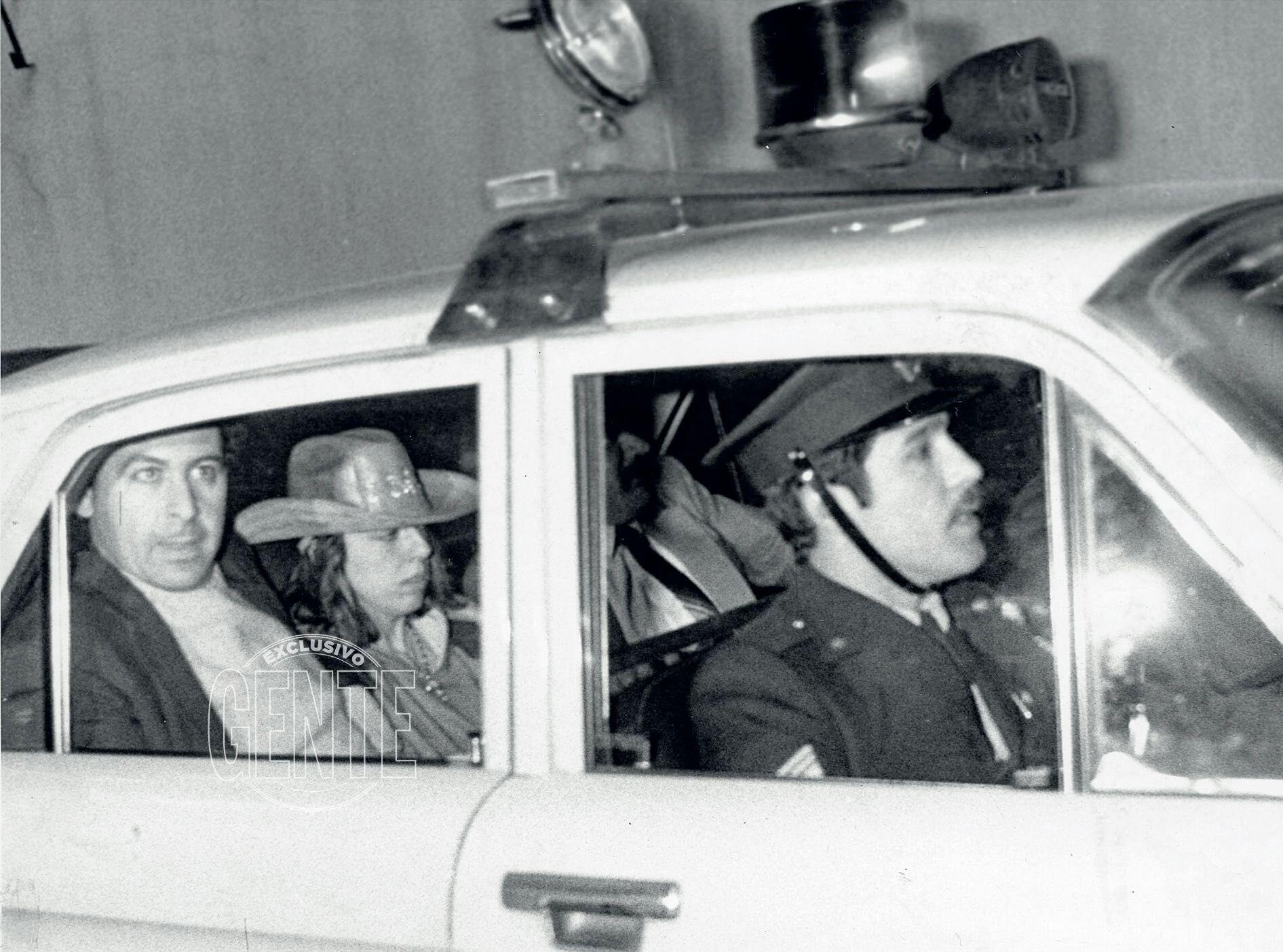 Claudia Sobrero con el excéntrico sombrero de ala ancha que lucía los días en que estuvo prófuga.