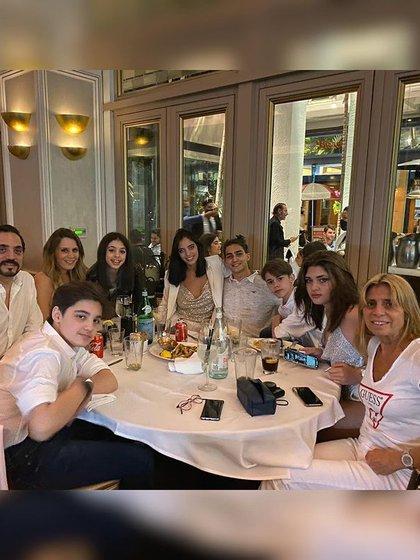 Los mellizos recibieron el 2021 en Miami con su familia