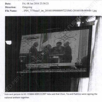 """Otra imagen del expediente de Cienfuegos, en donde se menciona a """"El H2"""" y a Miguel Ángel Osorio Chong (Foto: Captura de pantalla)"""