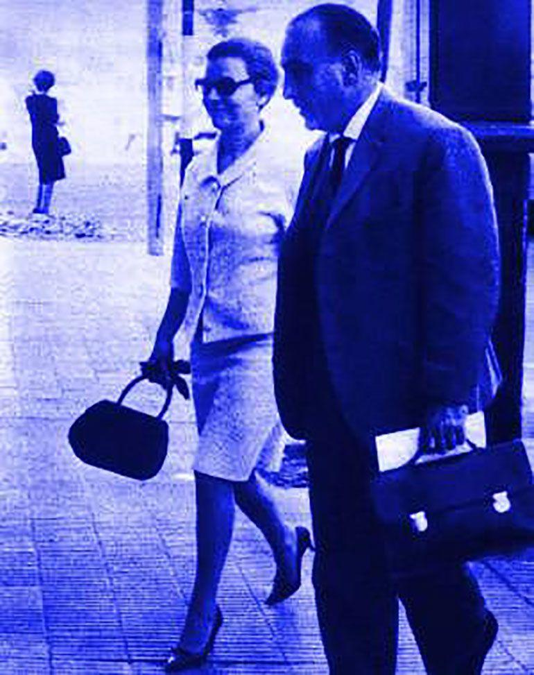 José López Rega junto a Isabel Perón en la gira que ella hizo por la Argentina en 1965