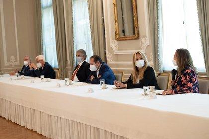 Reunión entre Iván Duque y la Coalición de la Esperanza. Foto: Presidencia.