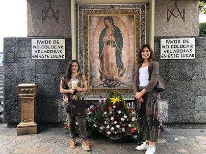 La actriz visitó la Basílica de Guadalupe en la capital mexicana (Instagram: lorenameritanooficial)