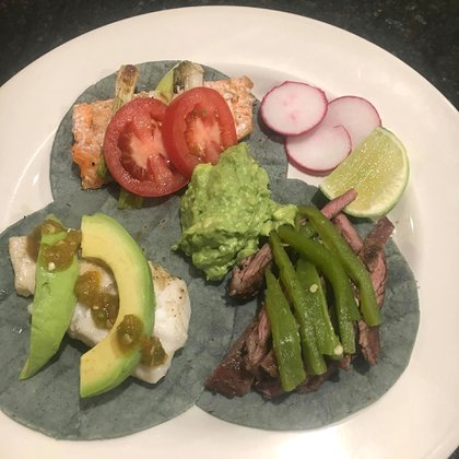 La comida que preparan entre la nutricionista y el chef del boxeador (@arizafitness1)
