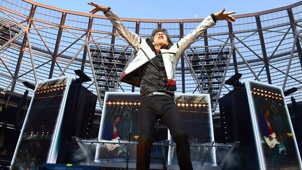 Mick Jagger delineó al frontman prototípico de una banda de rock (AP)