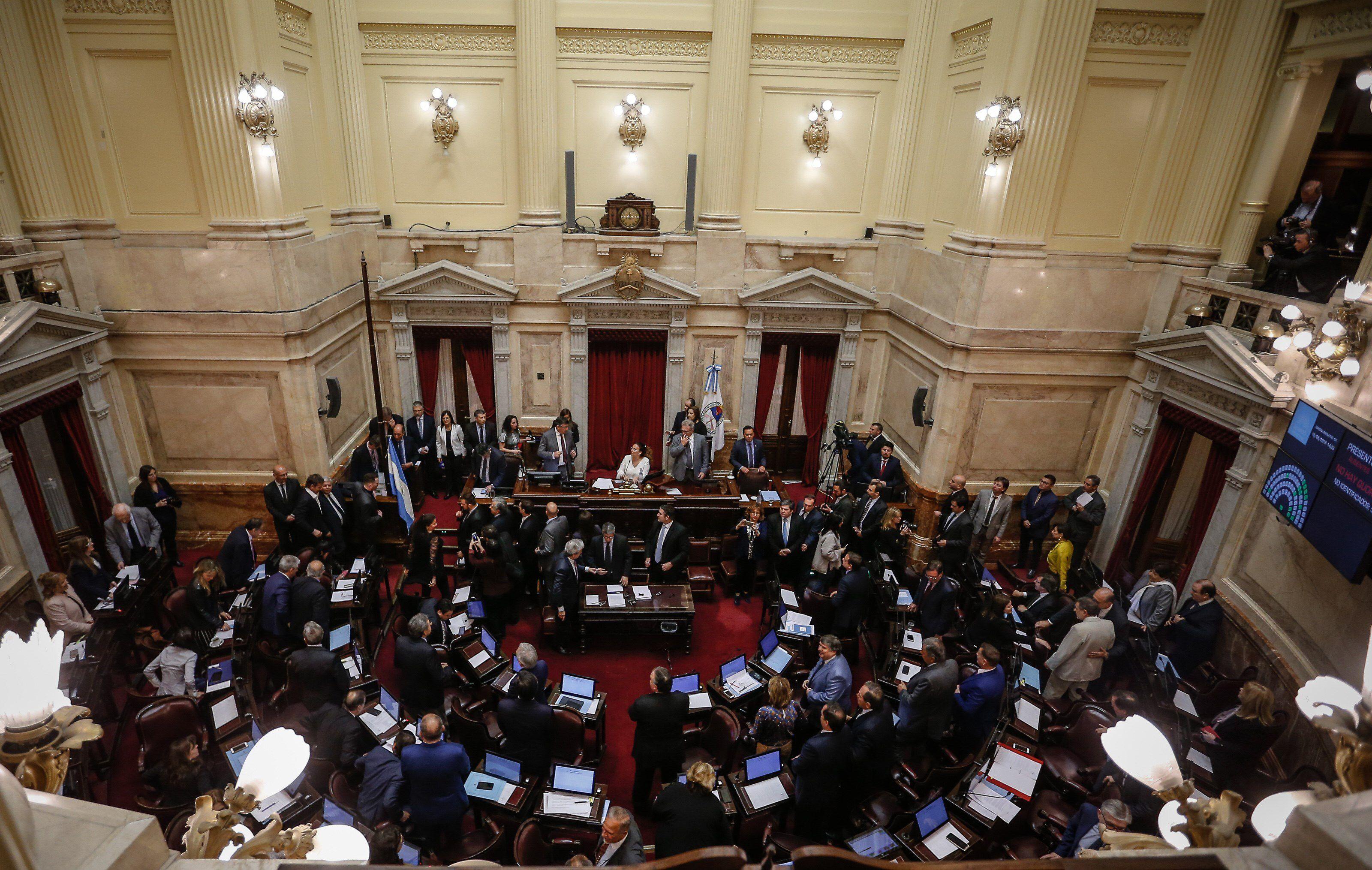 El Senado volvió a sesionar de forma presencial (EFE)