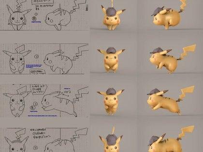 Los bocetos de Pikachu Credit Warner Bros.