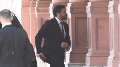 De la reunión también participó Alejandro Domínguez, presidente de Conmebol (Adrián Escandar)