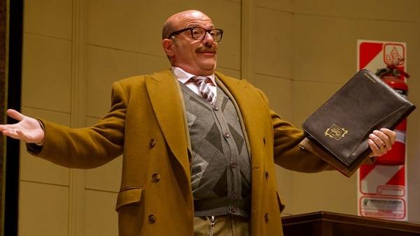 """Campi cumplió el sueño de trabajar junto a Juan José Campanella en""""¿Qué hacemos con Walter?"""" el éxito teatral de la temporada porteña."""