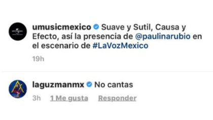 Alejandra Guzmán dijo a Paulina que no canta (Captura de pantalla)