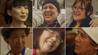 Tres mujeres japonesas y tres chilenas unidas por el Océano Pacífico, los tsunamis y la cocina