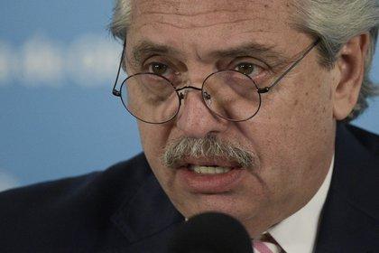 El presidente Alberto Fernández. EFE/Juan Mabromata/Archivo
