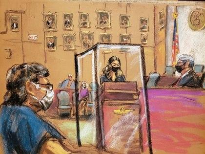 La víctima mexicana identificada como 'Camila' declaró, por primera vez, sobre todos los abusos que sufrió por parte de Keithe Raniere en la secta sexual NXIVM (Foto: REUTERS/Jane Rosenberg)