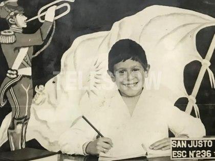Beto Casella en la foto escolar