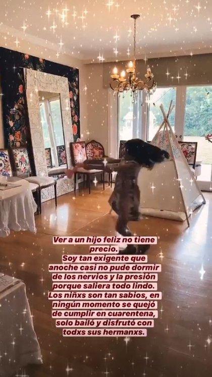 Diás atrás, Euge le celebró el cumpleaños a su hija, Rufina Cabré (Foto: Instagram)