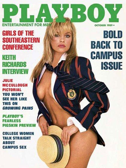 """La primera portada de Pamela Anderson en """"Playboy"""", cuando tenía 22 años"""