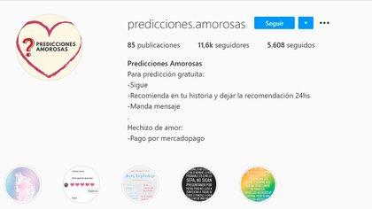 """El perfil de """"Predicciones Amorosas"""""""