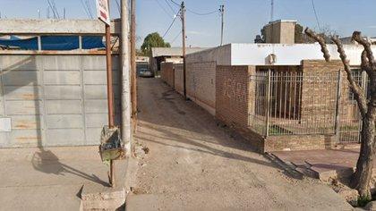 El callejón donde se ubica la casa de los detenidos
