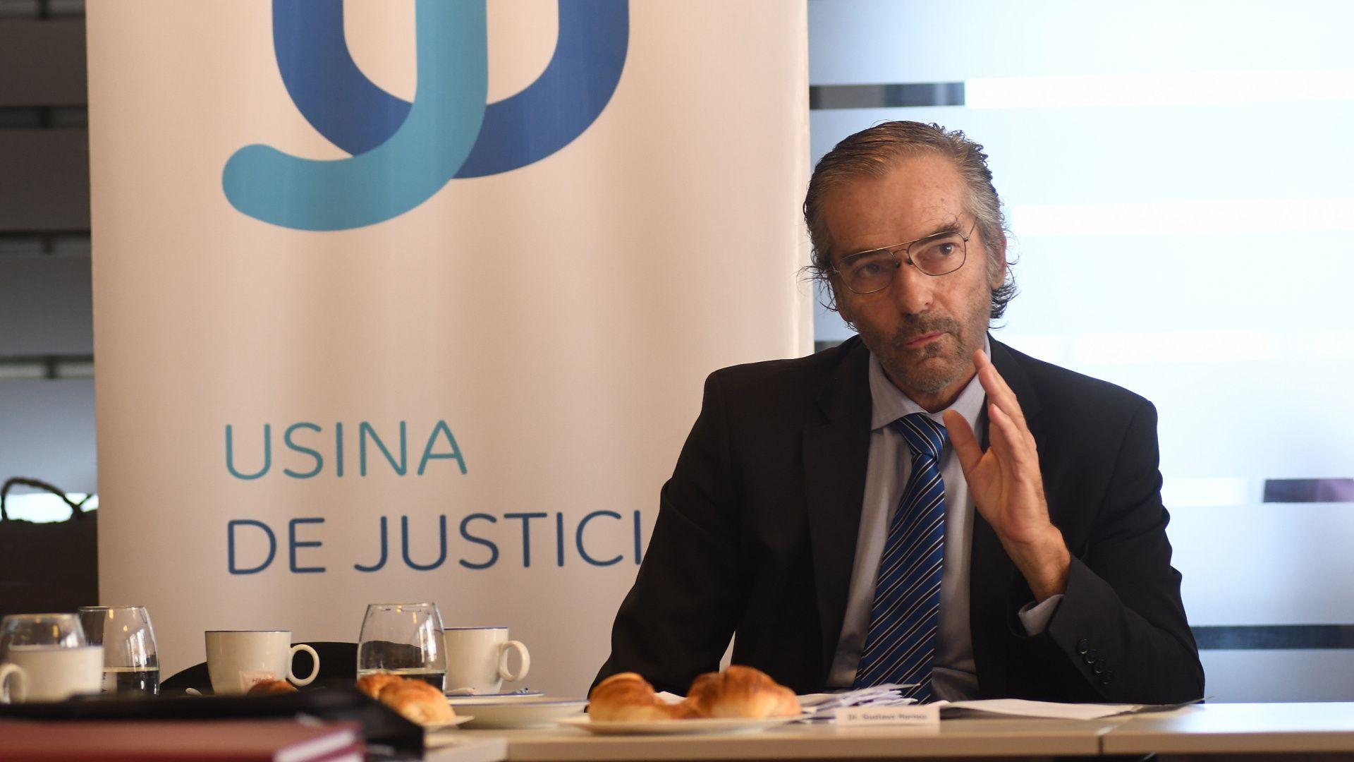 El presidente de la Cámara Federal de Casación Penal (CFCP), Gustavo Hornos, convocó a garantizar la presencialidad en los tribunales (Fabián Ramella)