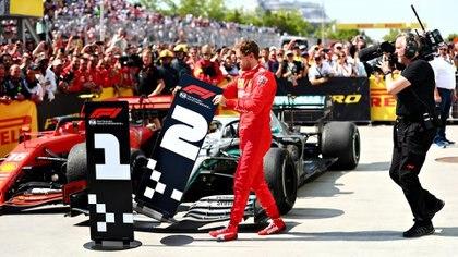 Sebastian Vettel modificó los números del orden de llegada, enojado por la sanción que le impidió ganar el GP de Canadá(AFP)