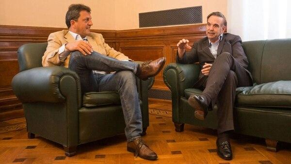 Sergio Massa y Miguel Angel Pichetto, dos de los articuladores del peronismo