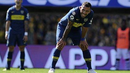 Tevez apenas fue titular en el partido con Talleres de Córdoba (Foto BAIRES)