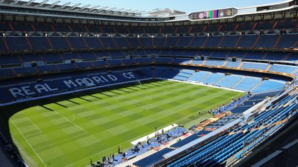 El Santiago Bernabeu, vacío (Photo by Mladen ANTONOV / AFP)