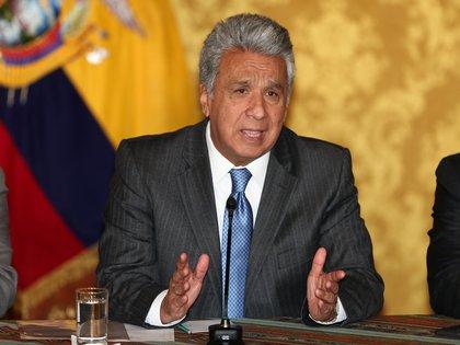 En la imagen, el presidente de Ecuador, Lenín Moreno. EFE/José Jácome/Archivo