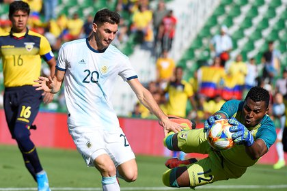 El delantero estaba en la lista preliminar de cara a la Copa América (Photo by JOSE JORDAN / AFP)
