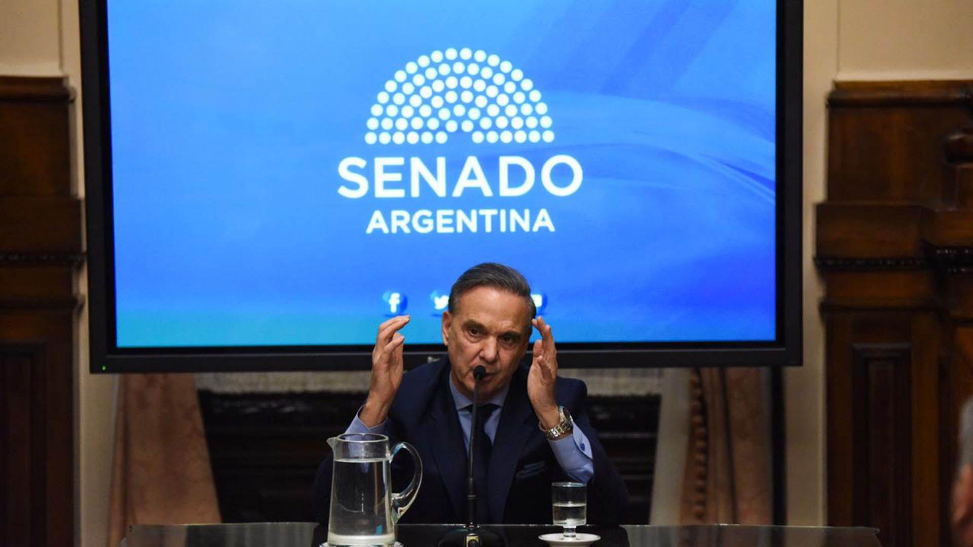 Miguel Ángel Pichetto, el peronista compañero de fórmula presidencial de Mauricio Macri (Julieta Ferrario)