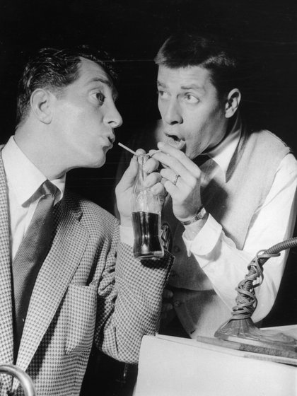 (Getty Images) Jerry Lewis y Dean Martin