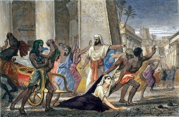 Grabado de 1876. Hipatia es arrastrada a su muerte