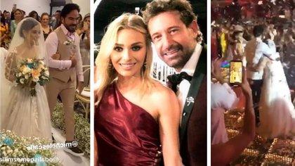 Irina Baeva y Gabriel Soto acudieron en noviembre a una boda multitudinaria en la joya del Caribe Mexicano (Foto: Instagram)